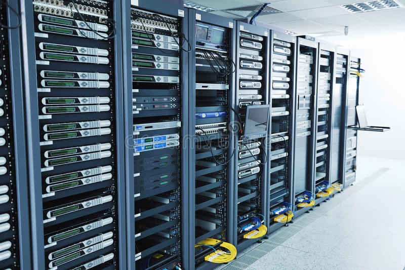 Stanza del servizio rete immagine stock