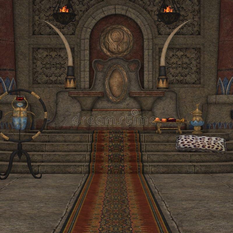 Stanza del trono di fantasia illustrazione vettoriale