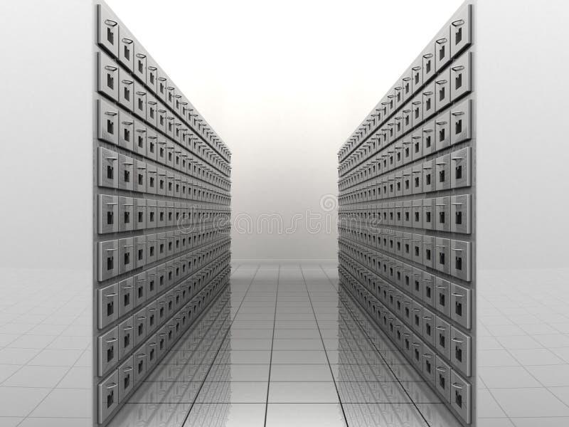 Stanza dell'archivio illustrazione di stock