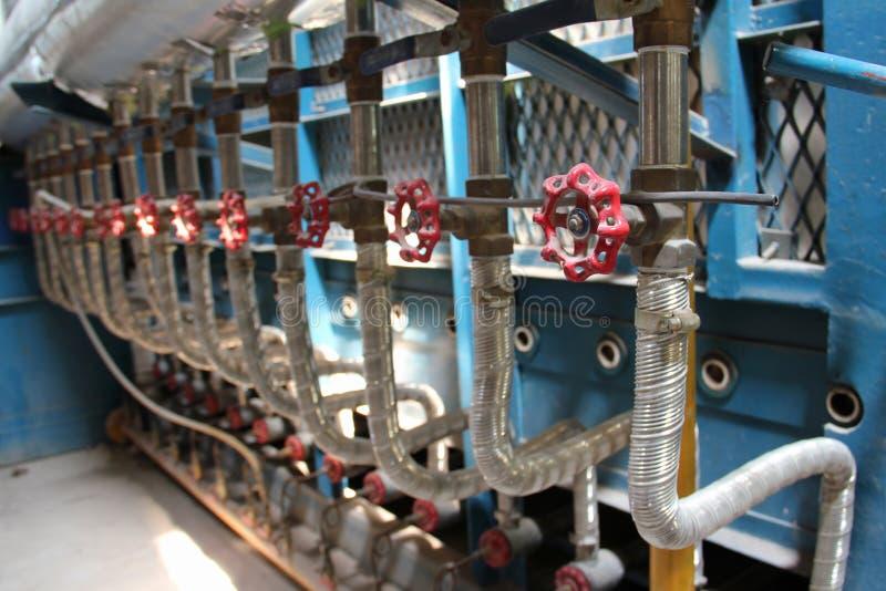Stanza della caldaia a gas fotografia stock