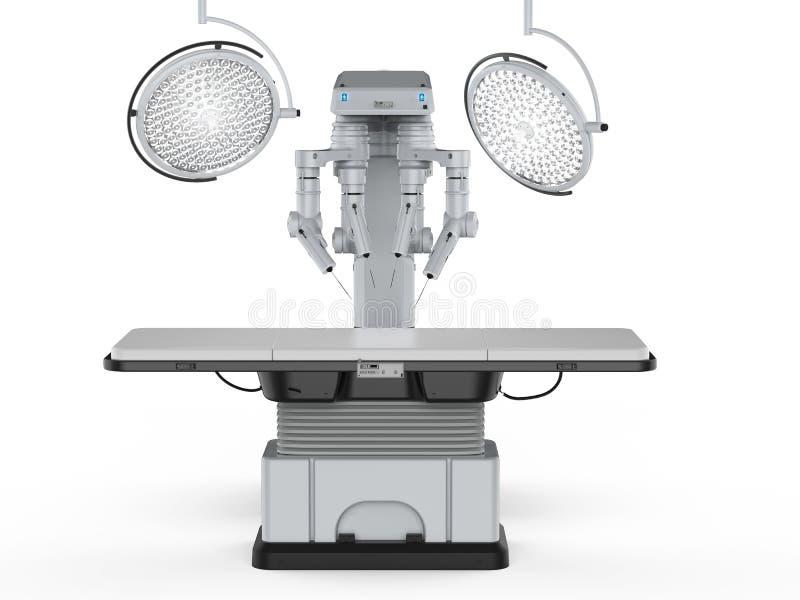 Stanza della chirurgia con ambulatorio robot illustrazione di stock