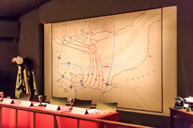 Stanza della guerra dalla guerra mondiale 2 fotografia stock