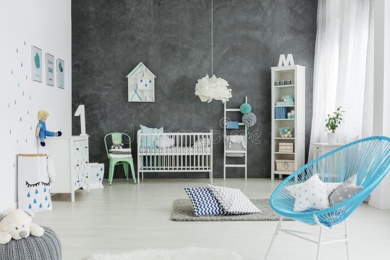 Stanza della scuola materna nello stile scandinavo fotografie stock