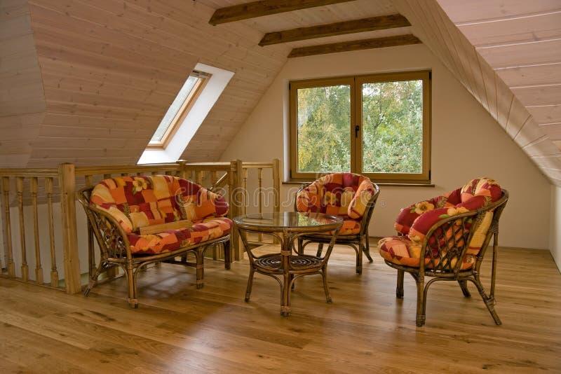 Stanza della soffitta (1) fotografie stock