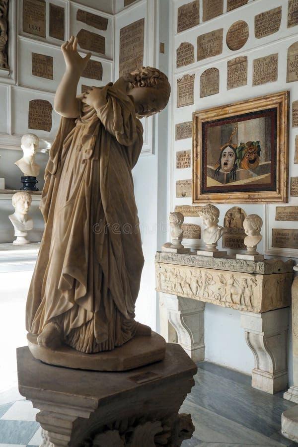 Stanza delle colombe nel museo di Capitoline di Roma, Italia fotografie stock