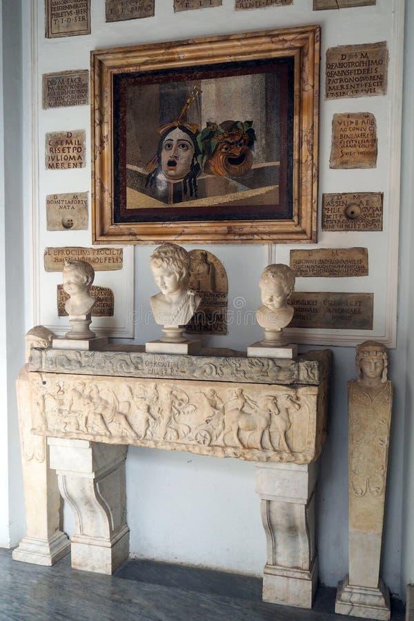 Stanza delle colombe nel museo di Capitoline di Roma, Italia immagine stock libera da diritti