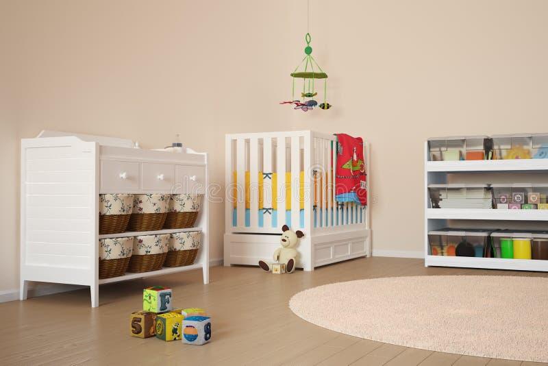 Stanza di bambini con i giocattoli royalty illustrazione gratis