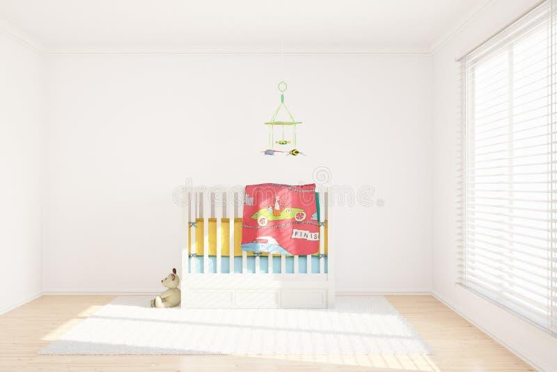 Stanza di bambini con i giocattoli illustrazione vettoriale