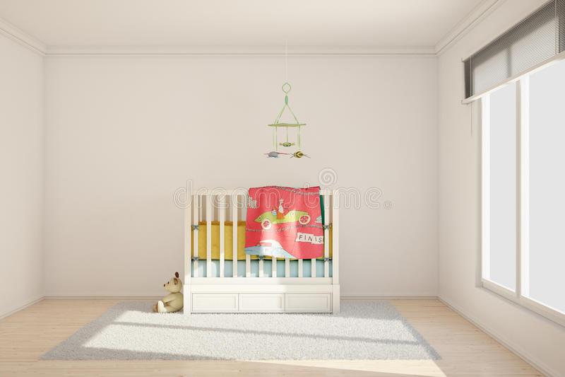 Stanza di bambini con i giocattoli illustrazione di stock