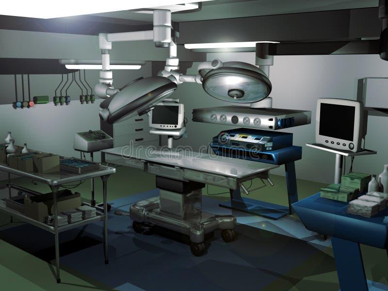 Stanza di chirurgia illustrazione vettoriale