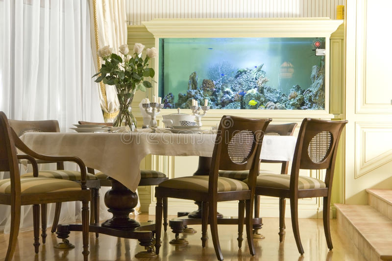 Stanza di Dinning fotografia stock