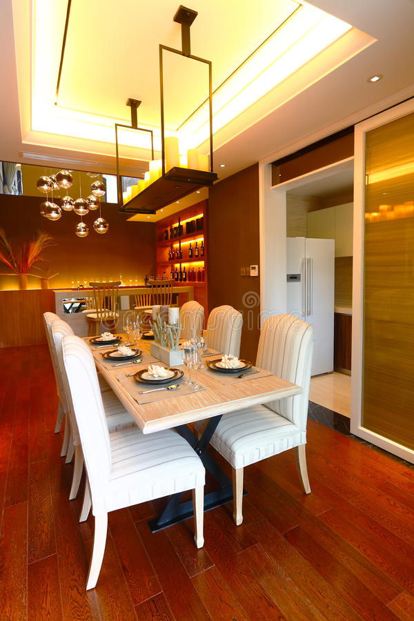 Stanza di Dinning immagine stock