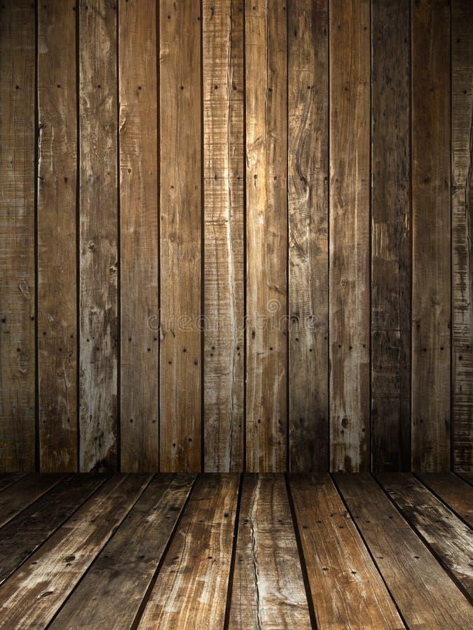 Stanza di legno di Grunge fotografia stock libera da diritti