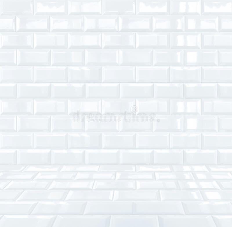 Stanza di mattonelle di ceramica bianca lucida delle - Piastrella bianca lucida ...