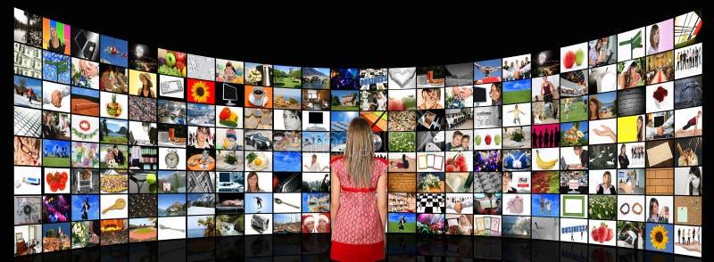Stanza di media immagine stock libera da diritti