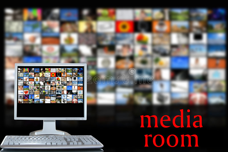 Stanza di media royalty illustrazione gratis