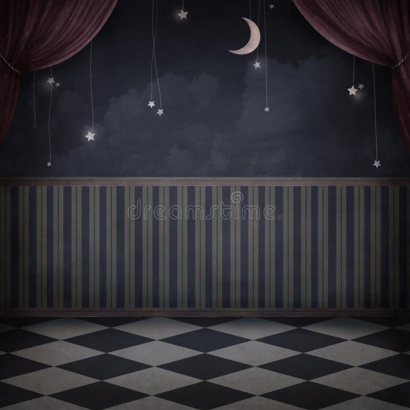 Stanza di notte illustrazione di stock