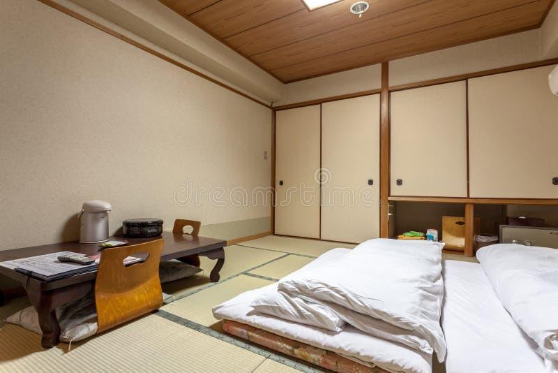 Stanza di ospiti giapponese tradizionale di Ryokan Jonoyu, immagini stock