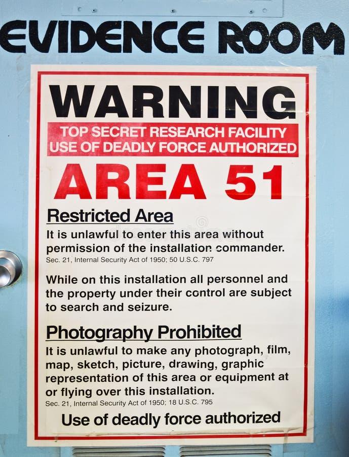 Stanza di prova, area 51 immagine stock libera da diritti