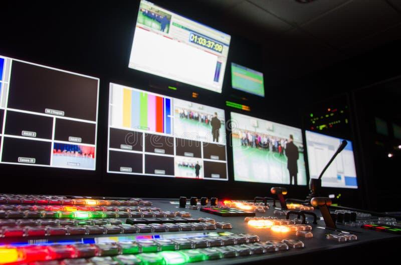 Stanza di radiodiffusione della televisione fotografia stock libera da diritti