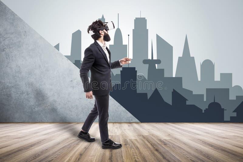 Stanza di realtà virtuale fotografie stock
