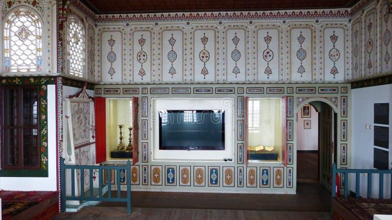 Stanza di ricezione al museo di Rakoczi in Tekirdag, Turchia immagini stock