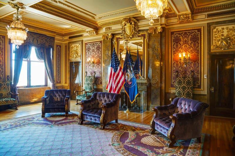 Stanza di ricezione dello stato dell'Utah fotografia stock