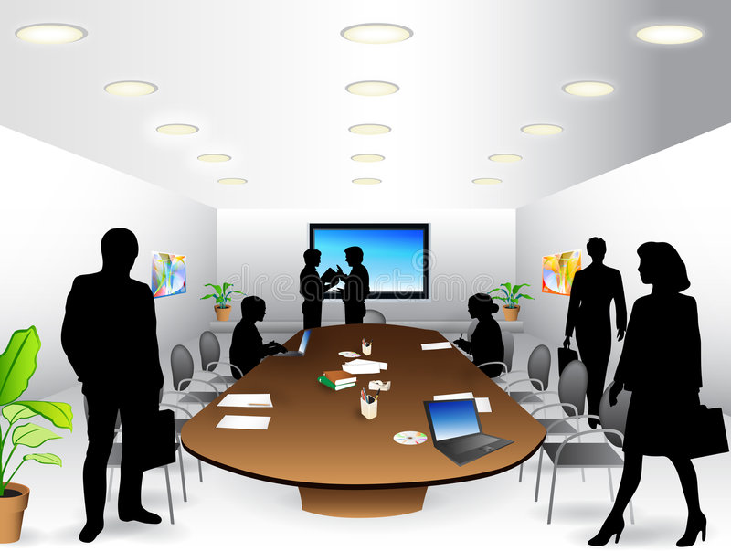Stanza di riunione d'affari royalty illustrazione gratis