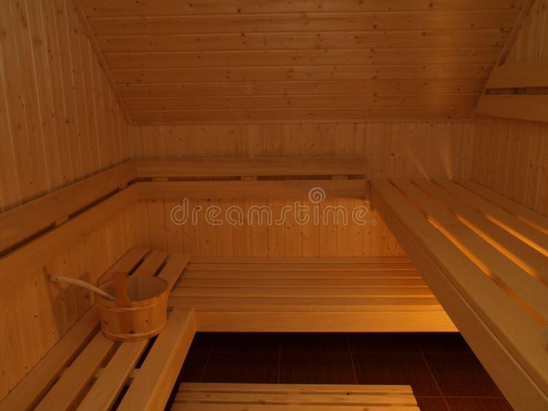 Stanza di sauna immagine stock