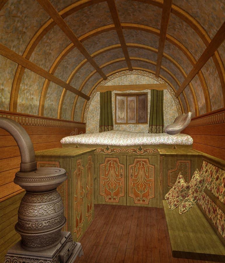 Stanza di sonno antica illustrazione di stock