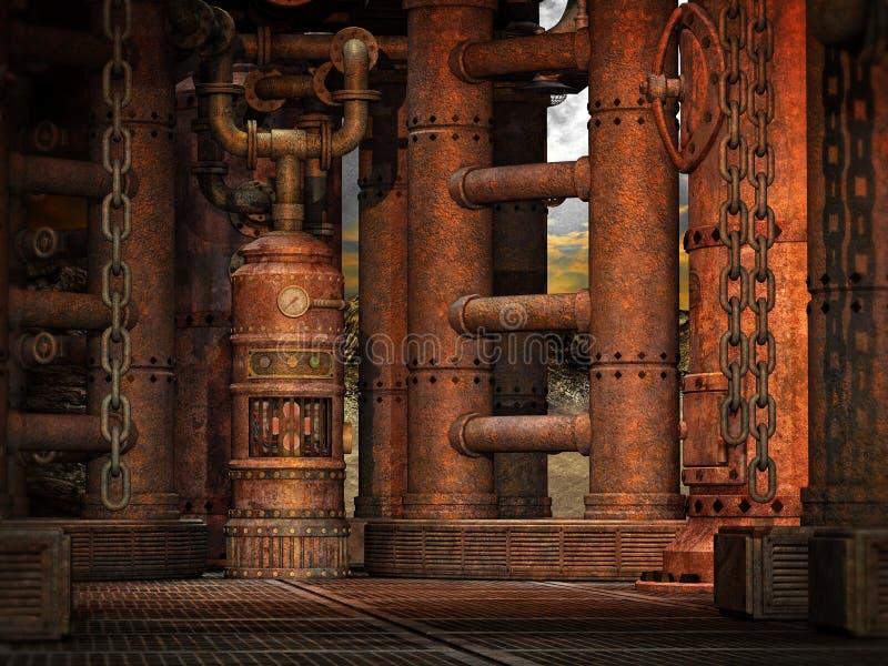 Stanza di Steampunk illustrazione vettoriale