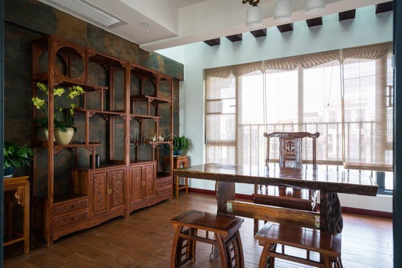 stanza di studio con stile cinese immagine stock
