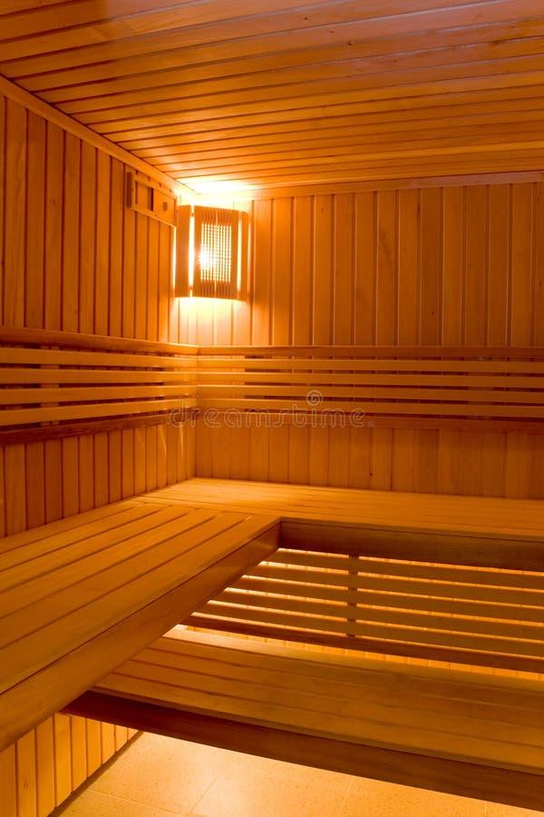 Stanza di sudore nella sauna immagini stock