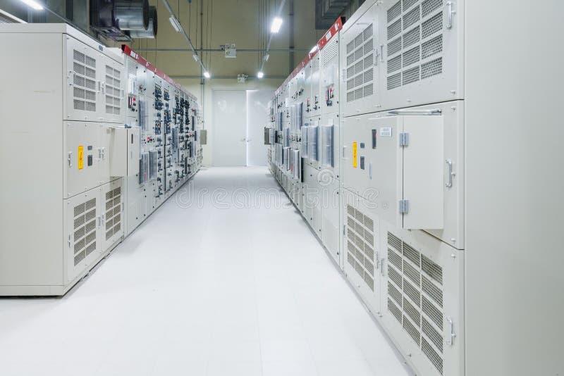 Stanza elettrica, medium e scambista ad alta tensione, attrezzatura, immagini stock libere da diritti
