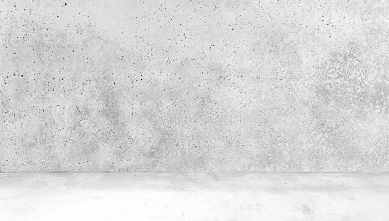 Stanza fatta dell interno bianco di floorabstract del calcestruzzo