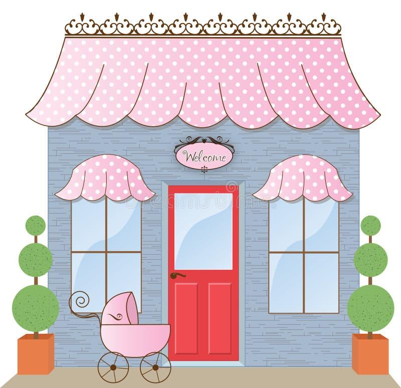 Stanza frontale di negozio del boutique illustrazione vettoriale