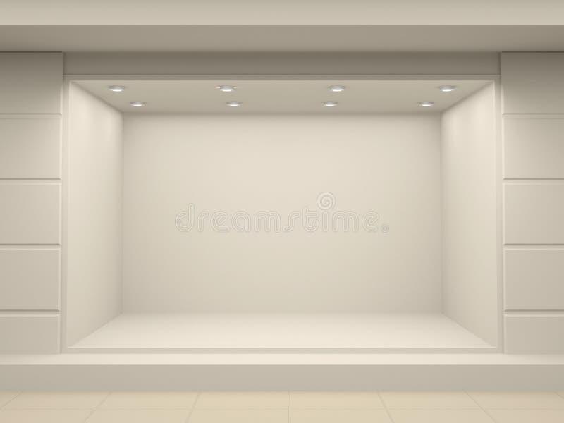 Stanza frontale di negozio vuota del negozio immagini stock