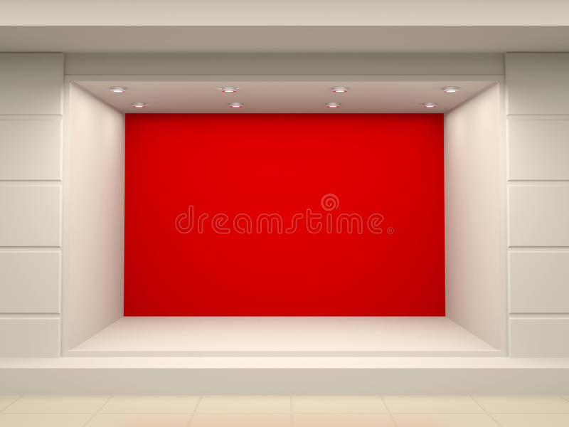 Stanza frontale di negozio vuota del negozio illustrazione di stock