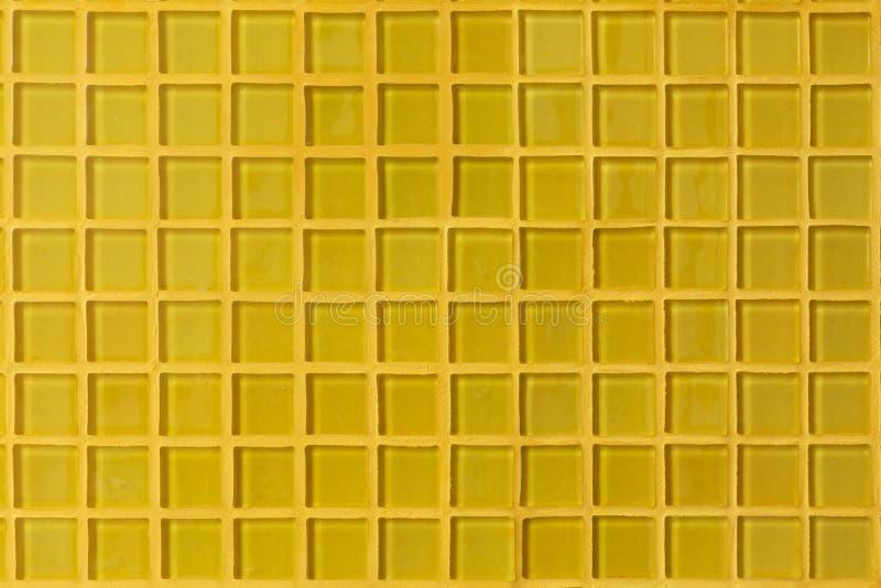 Stanza gialla della parete della decorazione della tessera fotografia stock