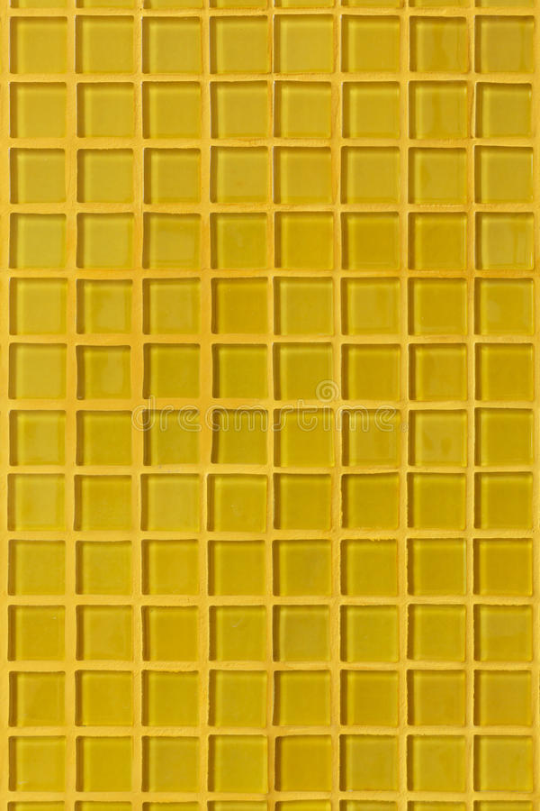 Stanza gialla della parete della decorazione della tessera immagine stock