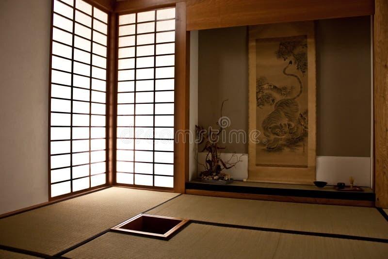 stanza giapponese immagine stock immagine di stuoia