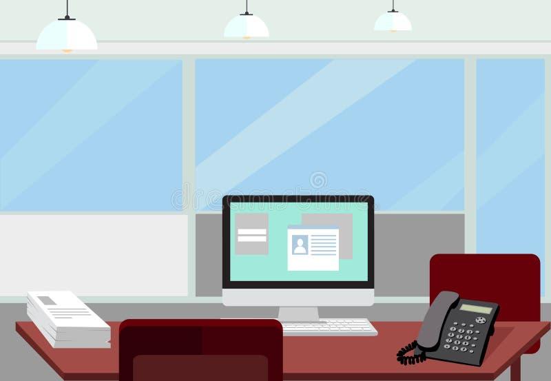 Stanza interna dell 39 ufficio illustrazione di vettore per for Stanza in ufficio