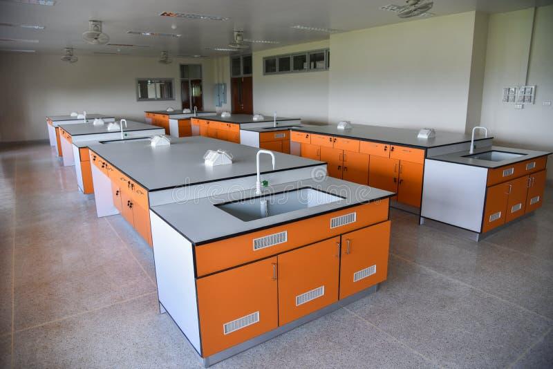 Stanza interna di scienza del laboratorio fotografie stock libere da diritti