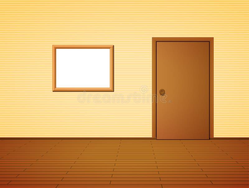 Stanza con la porta e la struttura illustrazione vettoriale