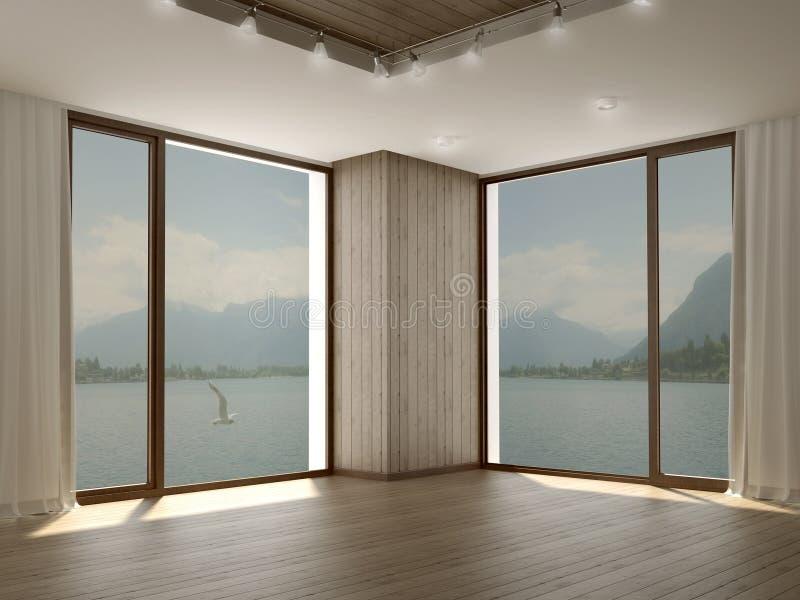 Stanza moderna con due grandi finestre nell 39 angolo - Finestre grandi ...