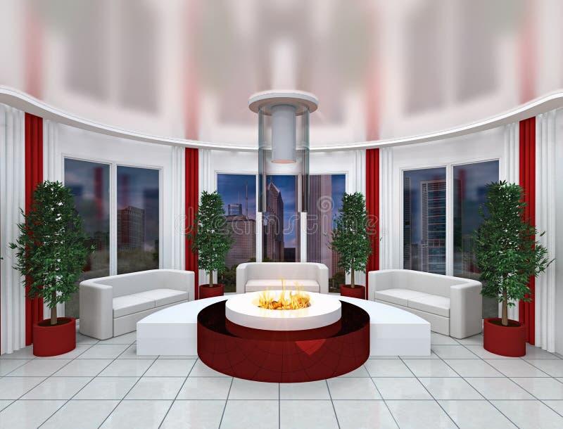 stanza moderna dell'ufficio royalty illustrazione gratis