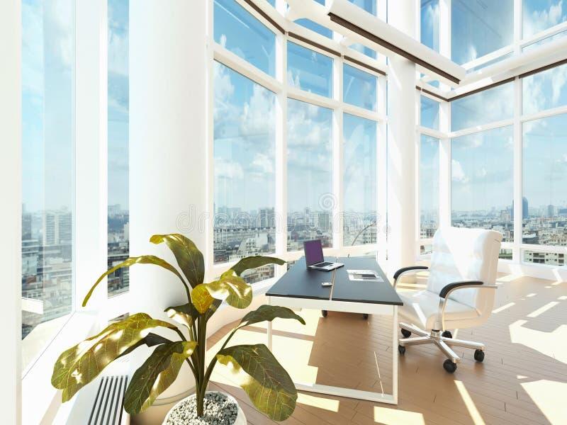 Stanza moderna dell'ufficio | Interno di architettura illustrazione di stock