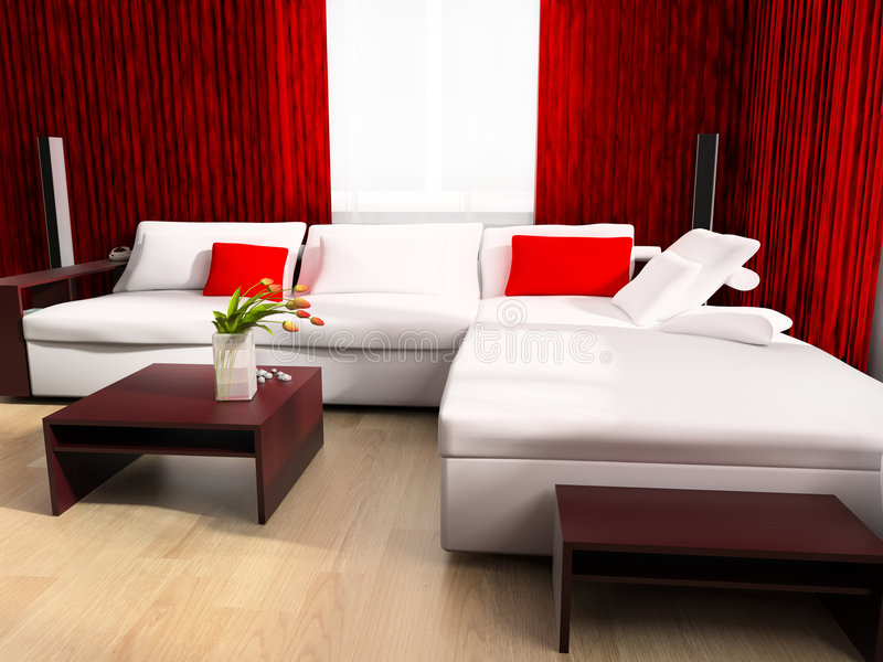 stanza moderna dissipante royalty illustrazione gratis
