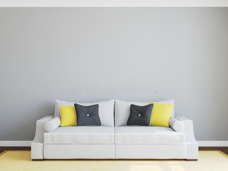 stanza moderna vivente illustrazione di stock