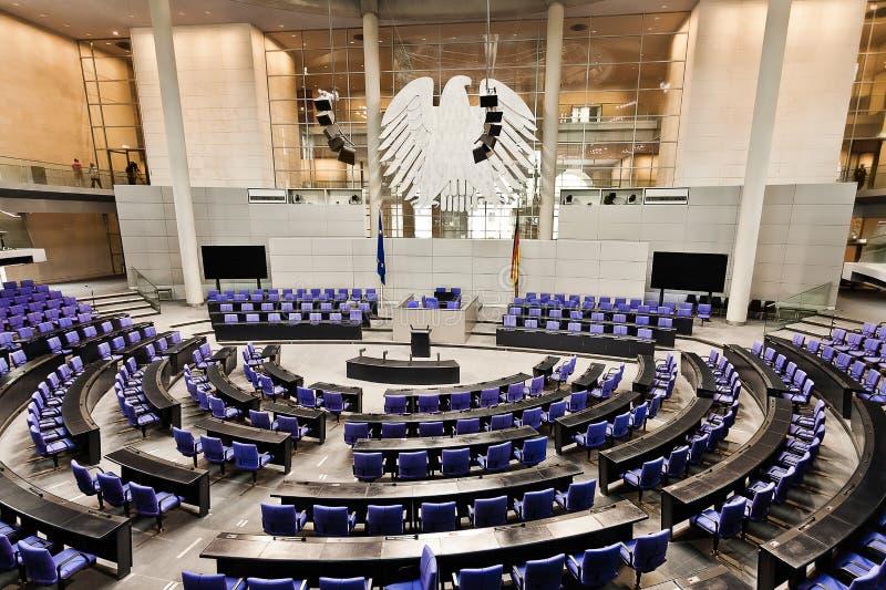 Stanza Reichstag Berlino del bundestag del Parlamento immagine stock